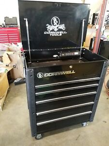 Toolbox Cornwell 5 Drawer Black Power Tool Cart