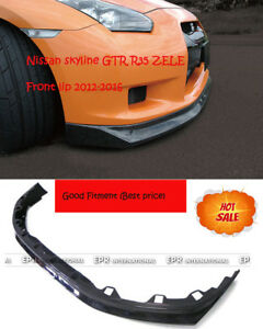 New Zele Front Bumper Lip Wing For Nissan Skyline R35 Gtr 12 16 Carbon Fiber
