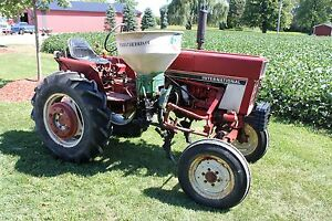 International Harvester 274 Diesel Cultivator Tractor 30hp Fertilizer Hopper Pto