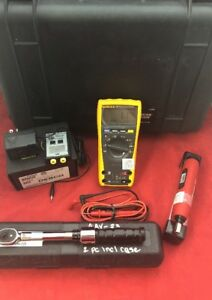 Fluke 179 True Rms Multimeter W touch Tester Snap on Q Driver 4 Torque Wrench