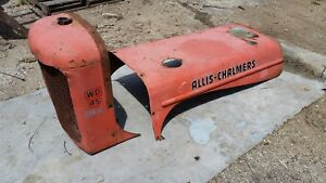 Allis Chalmers Wd45 Diesel Tractor Hood Grille Shell Radiator Combo