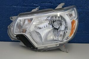 2012 2013 2014 Toyota Tacoma Left Headlight Halogen Chrome Bezel