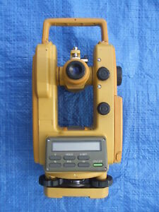Used Topcon Dt 20b Digital Theodolite Cst berger Tripod Level Rod