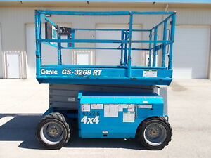 2006 Genie Gs 3268 4x4 Rough Terrian Scissor Lift Manlift Boomlift Man Jlg