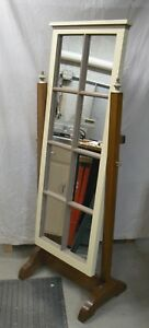 One Of A Kind Handcrafted Dressing Cheval Standing Floor Mirror Oak