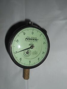federal Usa D21 Dial Indicator Gage Guage Full Jeweled Miracle Movement