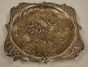 Vintage Solid Sterling Silver Footed Candy Dish Bowl Tray 382 1 Grams 12 28oz