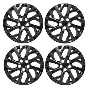 New 2017 2018 Toyota Corolla 16 Black Hubcap Wheelcover Set