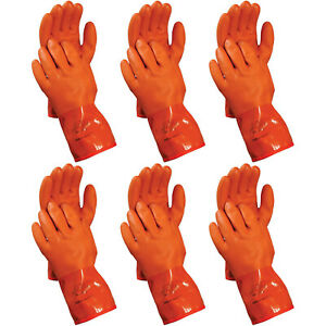 Atlas 460 Vinylove Cold Weather Pvc Insulated Freezer Large Work Gloves 6 pairs