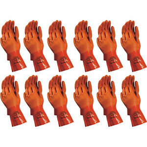 Atlas 620 Vinylove Double dipped X large Pvc Chemical Resistant Gloves 12 pairs