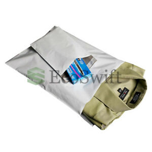 1000 8x8 Square White Poly Mailers Shipping Envelopes Self Sealing Bags 2 35 Mil