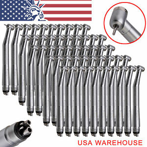 Usa 30 Nsk Style Dental High Speed Air Turbine Handpieces Push Button 4 Holes