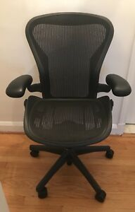 mint Cond Herman Miller Aeron Chair C Fully Adjustable Lumbar Back Support