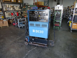Miller Syncrowave 300 Welder On Cart W Coolmate 12 Foot Pedal Cables