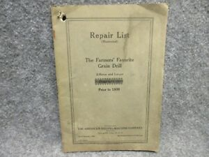 1925 American Seeding machine Co Repair List The Farmer s Favorite Grain Drill