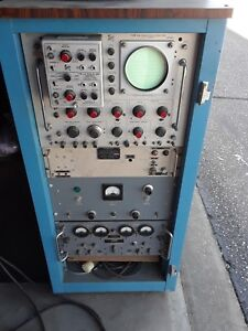 Vintage Analog Oscilloscope In Case With Channel A B