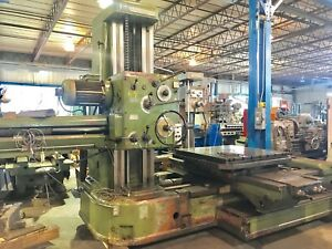 4 Tos Table Type Horizontal Boring Mill 50 Spindle Facing Head Hardways 74