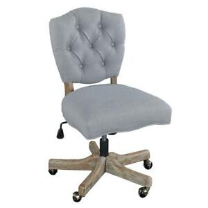 Office Chair Fallon Gray Modern Tufted Back And Cushioned Seat