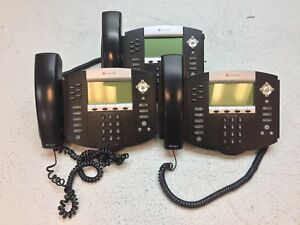 Lot Of 3 Polycom Soundpoint Ip560 Digital Telephone Tested Working Reset