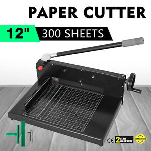 12 Width Guillotine Paper Cutter Heavy Duty Stack Paper Trimmer Best Price
