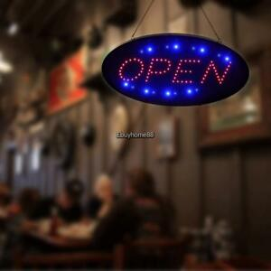 Ultra Bright Led Neon Light Animated Motion W On off Open Business Sign 24 Hour