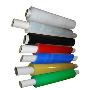 Stretch Cling Film Extended Core 400mm Pallet Shrink Wrap Black Clear Color 18mu