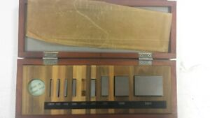 Mitutoyo Be1 9 3 Gauge Block Set Good Condition 9 Pc 1 16 To 2 Missing 25