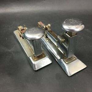 Vintage Ace 102 And Pilot 402 Desk Staplers Ace Fastener Corp Chicago Il