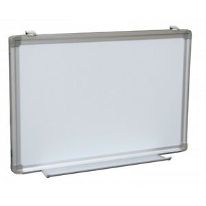 Dry Erase White Board Sign Tray Menu Magnetic Framed 36 X 72 Aluminum Whiteboard