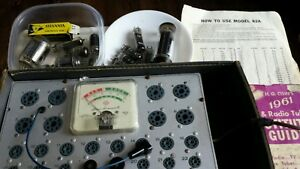 Superior Instruments Rapid Tube Tester Model 82a With 14 Tubes Manual Tested