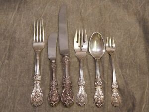 Francis I 1 Sterling Flatware 6 Piece Place Setting No Monogram Reed