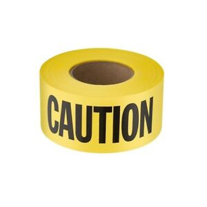 Barricade Yellow Caution Tape 3 X 1000 Ft 3 Mil