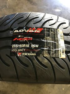 2 New 255 40 18 Yokohama Advan Neova Ad08 R Tires