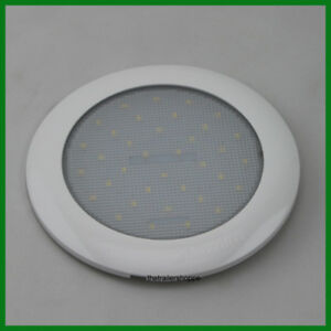 Low Profile Interior Dome Light 36 Led White Surface Mount 6 Round 450 Lumens