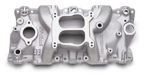 Edelbrock 2104 Intake Manifold Performer Sbc With Canted Center Bolt Holes