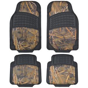 All Weather Camouflage Rubber Car Floor Mats Muddy Water Camo Design