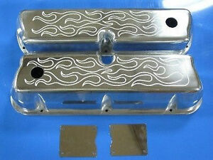Small Block Ford 289 302 306 331 347 Polished Aluminum Valve Covers Mustang Sbf