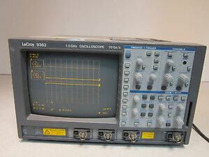 Lecroy 9362 1 5ghz 2 Channel 10 Gs s Oscilloscope Includes 3 Interface Cards