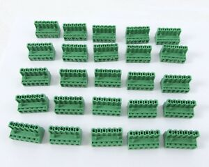 Lot Of 25 Phoenix Contact Mstb 2 5 6 st 5 08 Connector Pcb Block 6 Position