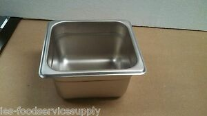 lot Of 6 Sixth Size 4 Deep Stainless Steamtable Pans Hot Table Food Steam Pan