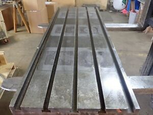 51 75 X 18 X 4 5 Steel Weld T slot Table Cast Iron Layout 5 Slot Jig