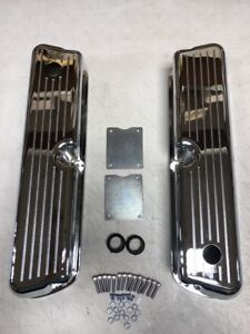 Small Block Ford Valve Covers Ball Milled Tall Chrome 289 302 5 0 Sbf Mercury