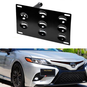 Jdm Front Bumper Tow Hook License Plate Bracket For 2018 Toyota Camry Se Or Xse