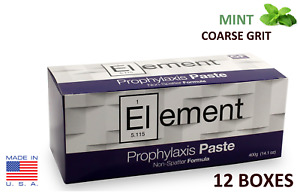 12 Boxes Element Prophy Paste Cups Mint Coarse 200 box Dental W flouride