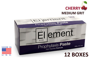 12 Boxes Element Prophy Paste Cups Cherry Medium 200 box Dental W flouride