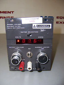 8495 Lambda Lq 520 Dc Power Supply 0 10v 5 0 Amp Max