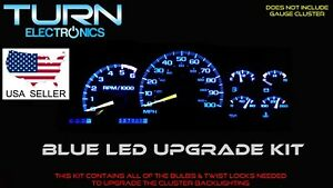 Chevrolet Silverado 1999 2002 Blue Led Speedometer Gauge Cluster Upgrade Kit