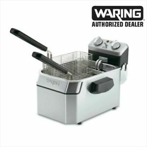 Waring Wdf1000 Commercial 10 Lb Deep Fryer 3 Baskets 120 Volt