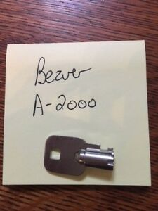 A 2000 Key For Beaver Gumball Candy Toy Vending Machine Lock Code A2000 A 2000