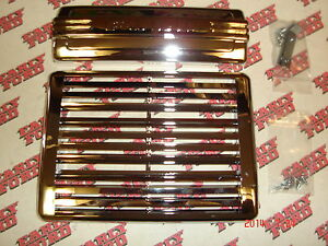 1948 1949 1950 Ford Pickup Radio Hole And Speaker Grille Covers Chrome